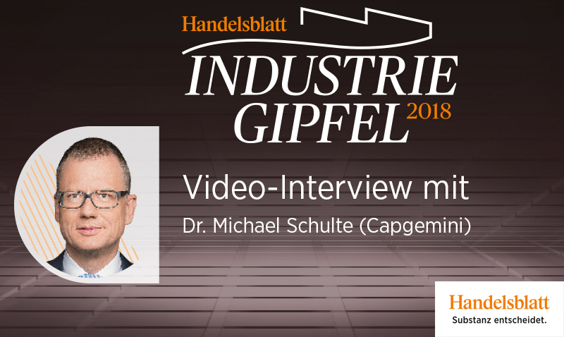 Video-Interview mit Dr. Michael Schulte (Capgemini)