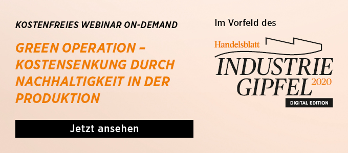 Webinar On-Demand: Green Operation – Kostensenkung durch Nachhaltigkeit in der Produktion