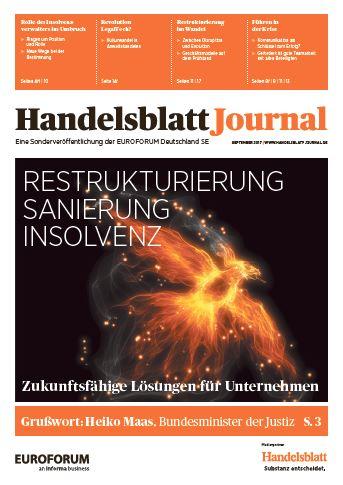 Handelsblatt Journal Restrukturierung Oktober 2017