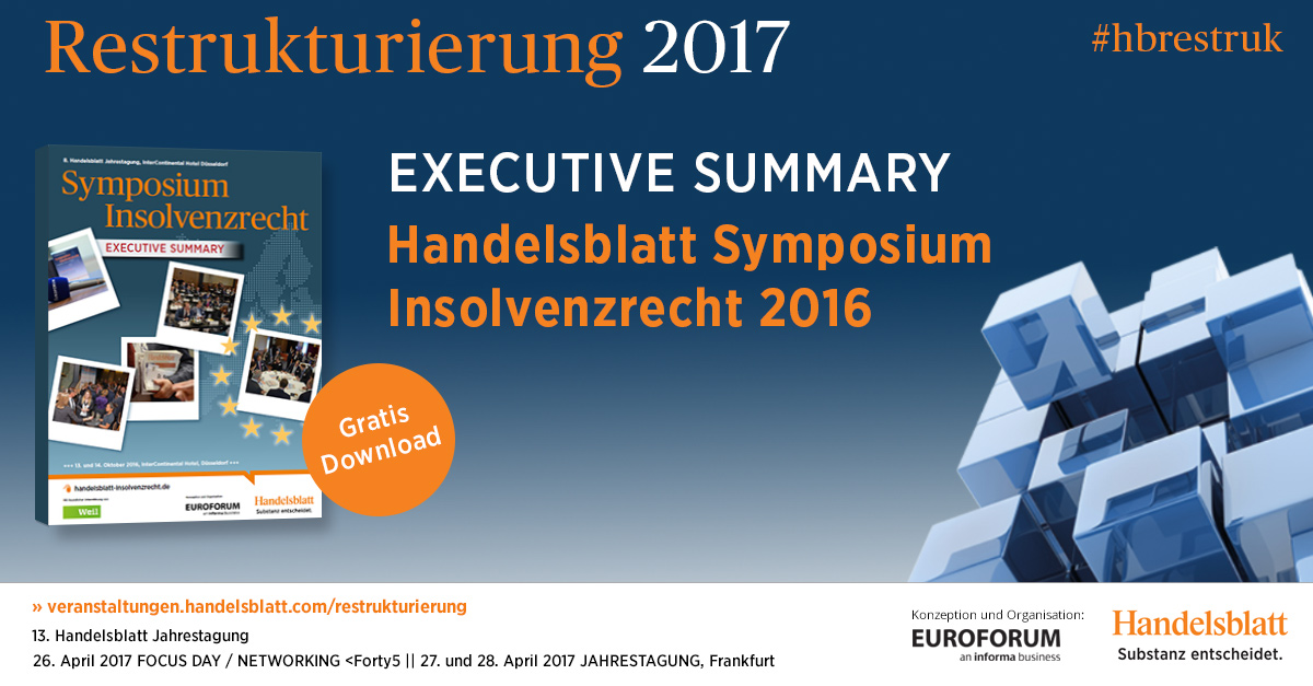 Executive Summary – Symposium Insolvenzrecht 2016