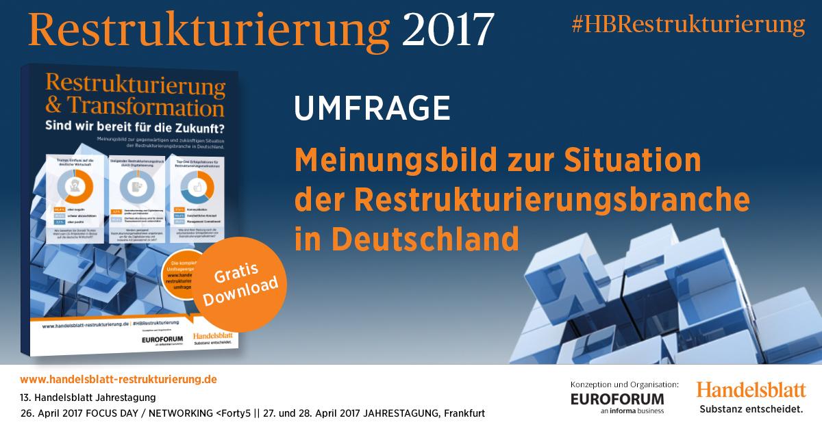 Meinungsbild zur gegenwärtigen und zukünftigen Situation der Restrukturierungsbranche in Deutschland.