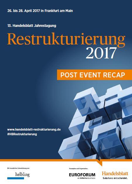 Restrukturierung Post Event Recap Deckblatt