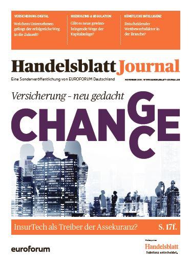 Packshot Handelsblatt Journal Versicherung neu gedacht